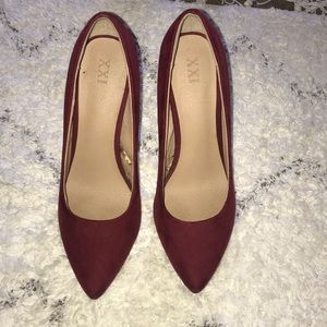 Forever 21 Wine red heels